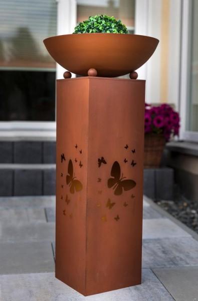 Metall Säule mit Pflanzschale