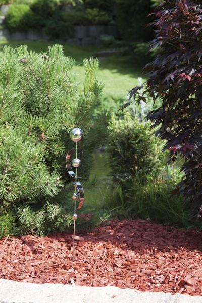 Gartenstecker aus Edelstahl